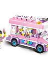ENLIGHTEN 自動車おもちゃ ブロックおもちゃ 建設セット玩具 213 pcs 車載 アイスクリーム用 互換性のある Legoing クリエイティブ かわいい エレガント・豪華 グラマラス・ドラマチック カトゥーン 男の子 女の子 おもちゃ ギフト / 知育玩具