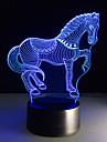 1 pezzo 3D Nightlight Telecomando / Colore variabile / Taglia piccola Artistico / LED / Moderno / Contemporaneo