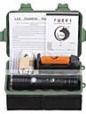 U\'King Lanternas LED Kits de Lanternas LED 2000 lm 3 Modo Cree XM-L T6 Foco Ajustavel Recarregavel Zoomable para Campismo / Escursao /