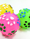 Cat Toy Dog Toy Pet Toys Ball Chew Toy Interactive Teeth Cleaning Toy Squeak / Squeaking Elastic Dog Durable Footprint Nobbly Wobbly