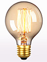 G80 Переменный ток 220-240 1шт ретро творческого искусства личности декоративный Edison лампочка e27 60w прямой провод