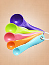 Set of 5 Measuring Spoon Belt Scale Sauce Seasoning Spoon Color 5 Piece SetPlastic Sugar Spoon