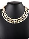 Dámské Jeden pruh Obojkové náhrdelníky Prohlášení Náhrdelníky Prohlášení dámy Vintage Evropský Zlatá Stříbrná Náhrdelníky Šperky Pro Narozeniny Denní