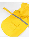 Dog Rain Coat Orange Yellow Blue Pink Dog Clothes Spring/Fall Solid Cute Sports