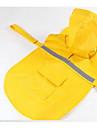 Собака Дождевик Одежда для собак Очаровательный Спорт Однотонный Оранжевый Темно-синий Желтый Розовый Костюм Для домашних животных