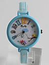 Жен. Модные часы Кварцевый / PU Группа На каждый день Мультяшная тематика Синий Розовый Желтый