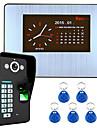 7 LCD-opname hd 1000tvl dvr vingerafdrukherkenning video deurtelefoon intercom systeem kit