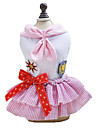 Dog Dress Dog Clothes Sailor Blue Pink Cotton Costume For Spring &  Fall Summer Classic Fashion