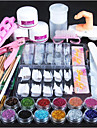 1set Acrylic Powder Glitter Nail Brush False Finger Pump Nail Art Tools Kit Set