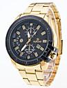 Men\'s Quartz Wrist Watch Sport Watch Large Dial Alloy Band Charm Dress Watch Fashion Multi-Colored