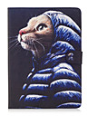 For Apple iPad Pro 9.7\'\' iPad Air 2 iPad Air Case Cover Cute Cat Pattern Painted Card Stent Wallet PU Skin Material Flat Protective Shell