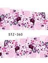 10pcs/set Adesivos para Manicure Artistica Transferencia de agua adesivo maquiagem Cosmeticos Designs para Manicure