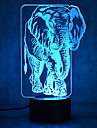1 pc 3D Nightlight Multi Color USB Sensor Dimmable Waterproof Color-Changing