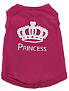 Cat Dog Shirt / T-Shirt Dog Clothes Tiaras & Crowns Rose Terylene Costume For Pets Women\'s Casual/Daily Fashion