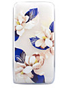 For LG G6 X Power X Screen Case Cover Blue Flowers Pattern Painted High Penetration TPU Material Soft Case Phone Case
