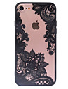 Capinha Para Apple iPhone X iPhone 8 Capinha iPhone 5 iPhone 6 iPhone 6 Plus Transparente Estampada Capa traseira Lace Impressao Rigida PC