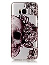 Etui Til Samsung Galaxy S8 Plus / S8 IMD / Transparent / Mønster Bagcover Dødningehoveder Blødt TPU for S8 Plus / S8 / S7 edge
