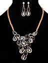 Women\'s Necklace/Earrings Crystal Synthetic Opal Rhinestone Vintage Personalized Euramerican Crystal Rhinestone Opal Alloy Jewelry 1 Pair