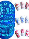 1pcs Hot Sale Fashion Nail Art Stamping Plate Beautiful Butterfly Flower Lovely Cartoon Heart Design Manicure Stencils For Polish DIY Beauty STZ-11-20
