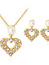 Women\'s Pearl Jewelry Set - Imitation Pearl, Rhinestone, Gold Plated Heart Classic, Fashion Include Gold For Party / Gift / Daily