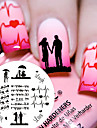 1 pcs Stamping Plate Template Fashionable Design / Valentine nail art Manicure Pedicure Chic & Modern Daily / Steel