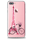 For iPhone X iPhone 8 iPhone 8 Plus Case Cover Transparent Pattern Back Cover Case Eiffel Tower Soft TPU for Apple iPhone X iPhone 8 Plus