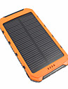 10000mAh Power Bank External Battery 5V 3.1A # Battery Charger Waterproof Multi-Output Solar Charge LED