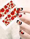 10pcs/set Hot Style Summer Charming Flower Design Nail Art Sticker Water Transfer Decals Nail Art Beauty Tip STZ-094