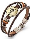 Муж. Жен. Кожаные браслеты Винтаж бижутерия Кожа Геометрической формы Бижутерия Назначение
