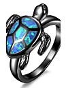 Жен. Массивные кольца Кольцо Обручальное кольцо Синтетический опал Мода По заказу покупателя Euramerican Медь Позолота В форме животных