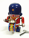 Robot Wind-up Toy Toys Machine Robot Drum Set Iron Metal Vintage 1 Pieces Children\'s Gift