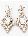 Mulheres Brincos Compridos Imitacao de Diamante Pingente Moda Euramerican bijuterias Zircao Joias Para Casamento Festa Ocasiao Especial