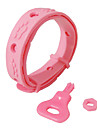 Dog Collar Adjustable / Retractable Solid Cartoon Rubber Pink
