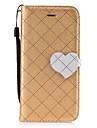 Capinha Para Apple iPhone 7 Plus iPhone 7 Porta-Cartao Carteira Com Suporte Flip Magnetica Estampada Capa Protecao Completa Cor Solida