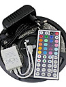 Z®ZDM Waterproof 5M 24W 300SMD 2835 RGB LED Strip Light 44Key Remote Controller Kit 3A Power Supply AC110-240V