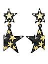 Women\'s Drop Earrings - Star Basic Gold / Black For Casual