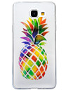 For Samsung Galaxy A3 (2016) A5 (2016) Case Cover Pineapple Pattern High Transparent TPU Material IMD Craft Mobile Phone Case  A3 (2017) A5 (2017)