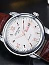 Муж. Модные часы Кварцевый 30 m / Кожа Группа Аналоговый На каждый день Коричневый - Белый Черный Синий