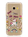 For Samsung A3 A5 (2017) Case Cover Unicorn Pattern Painted High Penetration TPU Material IMD Process Soft Case Phone Case A3 A5 (2016)