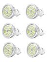 6pcs 7W 550-600lm GU10 Spot LED 48 Perles LED SMD 2835 Blanc Froid 110-240V