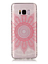 For Samsung Galaxy S8 Plus S8 TPU Material IMD Process Pink Taro Pattern Phone Case S7 Edge S7 S6 Edge S6 S5