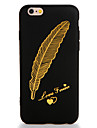 Coque Pour Apple iPhone 7 Plus iPhone 7 Motif Coque Plumes Flexible TPU pour iPhone 7 Plus iPhone 7 iPhone 6s Plus iPhone 6s iPhone 6