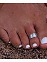 여성용 바디 쥬얼리 발가락 반지 합금 빈티지 의상 보석 제품 캐쥬얼 여름