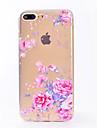 용 IMD 투명 케이스 뒷면 커버 케이스 꽃장식 소프트 TPU 용 Apple 아이폰 7 플러스 아이폰 (7) iPhone 6s Plus iPhone 6 Plus iPhone 6s 아이폰 6 iPhone SE/5s iPhone 5