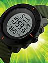 남성용 스포츠 시계 드레스 시계 패션 시계 손목 시계 독특한 창조적 인 시계 중국어 디지털 달력 크로노그래프 방수 야광 실리콘 밴드 참 멋진 우아한 멀티컬러