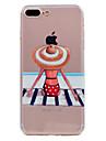 iphone 7 플러스 7 케이스 커버 울트라 - 얇은 투명 패턴 뒷면 커버 케이스 수영복 소프트 tpu 6 플러스 6 플러스 6 SE 5s 5
