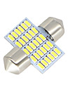 SO.K 31mm Car Light Bulbs 3W W SMD 3014 300lm lm LED Interior Lights