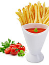 Snack Cone Stand With Remove Sauce Dip Fries Chips Finger Food Salad Cup Holder For Snack Storage Tools