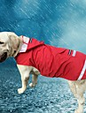 Cat Dog Hoodie Rain Coat Dog Clothes Solid Colored Red Blue Oxford cloth Terylene Costume For Spring &  Fall Summer Men\'s Women\'s Casual / Daily Waterproof