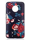 For Motorola Moto G5 Plus Case Cover Flower Pattern Relief Back Cover Soft TPU